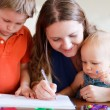 Family drawing — Stock Photo