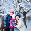 Family outdoors at winter — Stock Photo #8522358