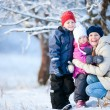 Family outdoors at winter — Stock Photo #8855251