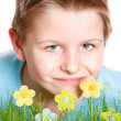 Spring portrait of little boy — Stock Photo #8855489