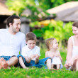 Summer family portrait — Stock Photo #9570953