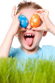 Easter boy funny portrait — Stock Photo