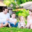 Summer family portrait — Stock fotografie #9649825