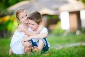 Adorables niños felices — Foto de Stock