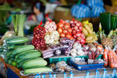 Vegetables on market in Malaysia — Stock Photo