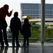 Stock Photo: Family at airport