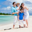 Happy family on tropical vacation — Stock Photo #9812344