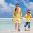 Mother and son at beach — Stock Photo #9813356