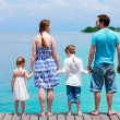 Family at tropical vacation - Stock Photo