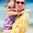 Mother and daughter on vacation — Stock Photo #9921362