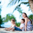 Family enjoying time at beach — Stock Photo #9921622