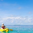 Mother and son kayaking — Stock Photo #9921664