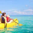 Mother and son kayaking — Stock Photo #9921787
