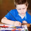 Boy drawing — Stock Photo #9921933