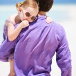Father and daughter at beach — Stock Photo #9989765