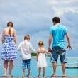 Family at tropical vacation — Stock Photo #9990672