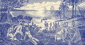 Slave Trade Scene — Stock Photo