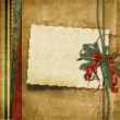 Vintage Christmas background with old card — Stock Photo #10100265