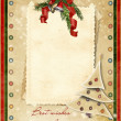 Vintage Christmas card with the wishes — Stock Photo