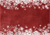 Christmas abstract background with snowflakes — Stock Photo