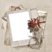 Stare karty na tło — Zdjęcie stockowe