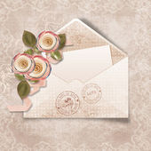Beautiful vintage background with envelope for congratulations — Stock Photo