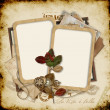 Old frames on the vintage background — Stock Photo