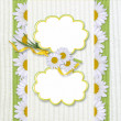 Greeting frame with daisy — Foto de Stock