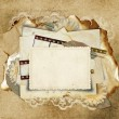Vintage background with old cards — Stock Photo #9816490