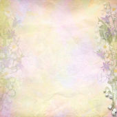 Retro colorful background with spring flowers — Stock Photo
