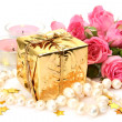 Stock Photo: Gifts and roses