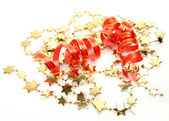 Streamer and ornaments — Stock Photo