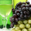 Stock Photo: Wine and grapes