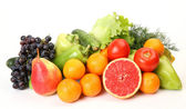 Ripe fruit and fresh vegetables — Stock Photo