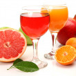 Ripe fruit and juice — Stockfoto