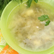 Foto de Stock  : Soup with greens