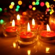 Burning candles — Stock Photo #10449363