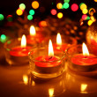Foto Stock: Burning candles