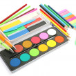 Paints and pencils — Stock Photo #10478932