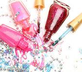 Färg nagellack — Stockfoto