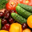 Ripe vegetables and fruit — Stock Photo