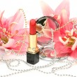 Decorative cosmetics and lilies — Stock Photo #9783455