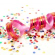 Confetti and streamer — Stock Photo #9796426