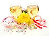 Vin och ljus — Stockfoto