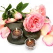 Rose and candles — Stock Photo #9802311