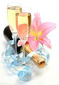 Wina i lilia — Zdjęcie stockowe