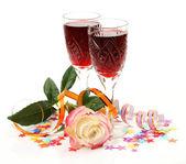Vin och rose — Stockfoto