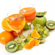 Fresh fruit and juice — 图库照片