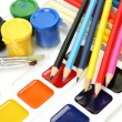 Paints and pencils — Stock Photo #9887492