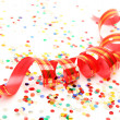 Confetti and streamer — Stockfoto